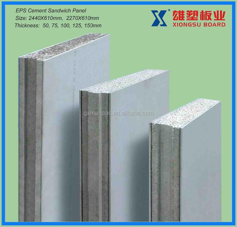 Eps Insulation Panels : Moistureproof fire insulation eps sandwich wall panels for