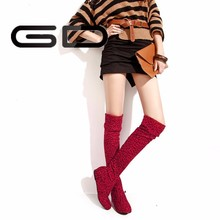 10 size women plat leopard boots sexy over knee boots big size girl winter boots
