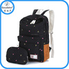 2015 fashion latest stock wholesale canvas high school backpack of bag