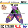 butterfly design purple sheep leather ladies indoor slippers