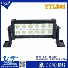 Y&T New product! Tuning lights 7.5inch 36w c.r.e.e double row led mini light bar 12v ip67