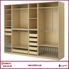 Easy Fitted White bedroom wall wardrobe design wardrobe and study table