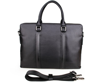 JMD Genuine Leather Men's Double Zipped Business Case For Men Briefcase Attache Case Portfolio # 7275A