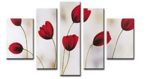 hot simple flower group oil painting for decoration