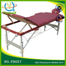 automatic wooden spa massage table portable design