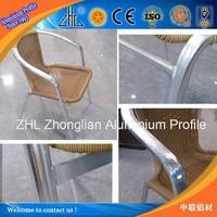 Hot sales!Aluminum square hollow tube bended tube,aluminium garden chair aluminium outdoor chair,aluminium chair cnc