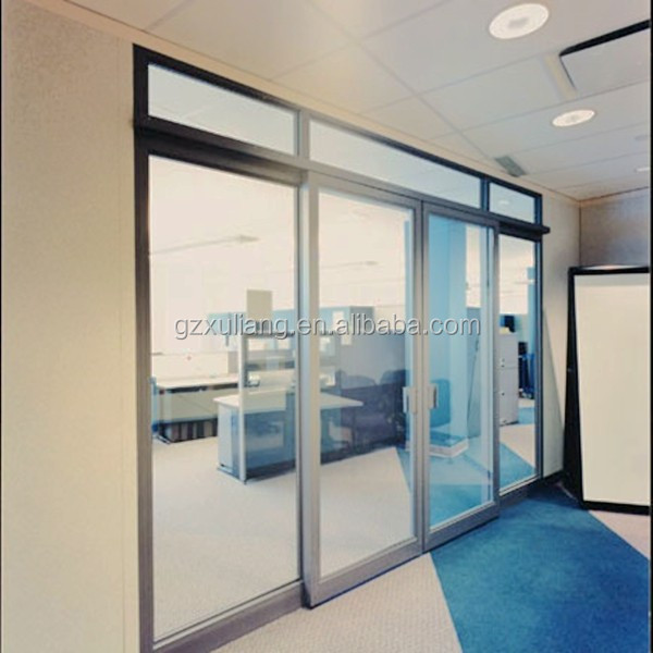 Used commercial office sliding door interior aluminum for Commercial interior sliding glass doors