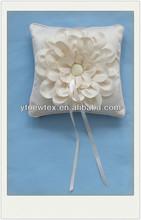 vintage designs satin fabric ring cushion for wedding