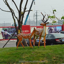 2015 deer fiber glass statue for outdoor garden animal statues for sale