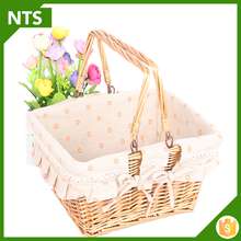 Custom Size Square Cheap White Wicker Basket