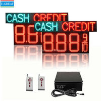 """16"""" LED Fuel Price Digital Sign With CASH CREDIT for Gas Station"""