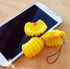 High Quality artificial mini banana keychain fake fruit faux food Purse Charm for decoration