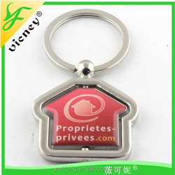 promotional high quality metal keychain house shaped