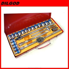 "1/2""DR 24pcs ratcheting socketset hand tool sets for cars motorcycle repair"