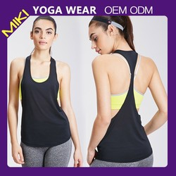 2015 performance breathable seamless athletic yoga wear tank tops with custom logo