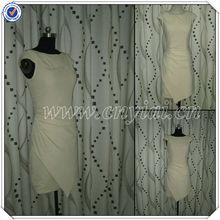 Pp2556 Cap mangas cortas vestidos formales vestido de fiesta