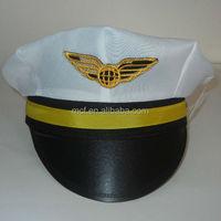 Party cheap Carnival aviator custom logo promotion airline pilot hats/ pilot cap