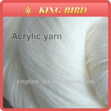 100% acrylic high bulky 2/32 semi dull raw white in hanks