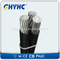 LV XLPE Insulated ABC Cable Aluminum Core self supporting aerial cable