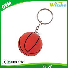 Winho Squeezable Foam Basketball With Keychain