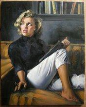 Portrait of Marilyn Monroe Beautiful Woman Portrait Canvas Oil Painting