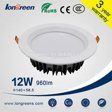 Round Adjustable Recessed 12W SMD Downlight / 2015 New Products LED Recessed Downlighting