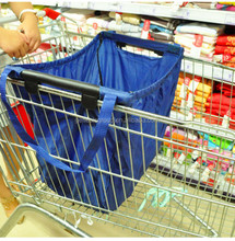 Nylon Material Foldable Style Custom Reusable shopping cart bag