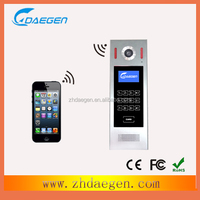 gsm video intercom with door release, controlled by cellphone & swipiing card to unlock
