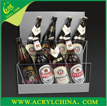 2015 printing logo acrylic wine rack/beer wine display