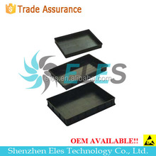 On stock Stackable & Durable Conductive Anti-static box size 300*205*90mm