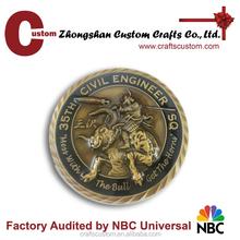 Custom 3D air force cheap custom challenge coin/metal souvenir