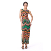 Vintage Style Side Split Maxi Dress Print Dress