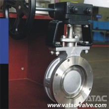 Cast Carbon Steel A216 WCB Wedge/Disc CF8M/CF8 U FLANGED Concentric Butterfly Valve
