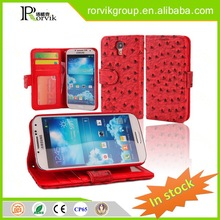 printed stand leather phone case leather with great price for Samsung Galaxy S4 I9500