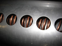 Stainless steel coils in fresh water cerculation solar water heaters