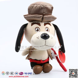 Personalized plush dog toy with embroidered promotion dress