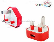 3 Pin dual USB 2.1A UK tavel charger