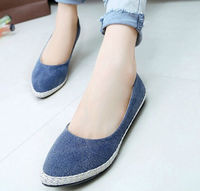 D35979A 2014 korea new fashion ladies canvas flat casual shoes