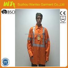 Hi-vis 3M reflective safety cotton workwear shirts