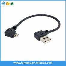 Main product custom design right angle micro/usb cable in many style