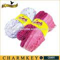 2014 fabricante de china de lujo de poliéster de arte y artesanía de hilados con varios color de la mezcla