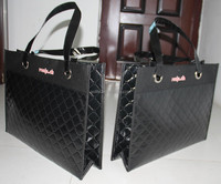 non woven embossed bag , fashion non woven bags, metal ring handles bag