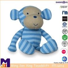 Knitted Toy Cheeky Monkey secured and safe for all age,certificated toys