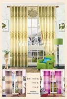 fabric polyester window curtain stripe semi-blackout curtain ready made curtain