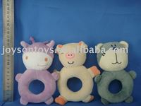 baby toy with a ring bell in different animal shaped