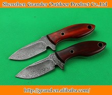 pure hand made damascus steel knife rare wood handle survival knives 4467