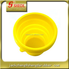 Outdoor Telescopic Gargle Collapsible Foldable Folding Cup, Toothbrush Cup, Mug for Outdoor Activities, Yellow