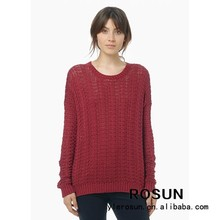 Vino rojo de moda para 100% de acrílico suéteres jerseys