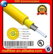 Interior blindados anti- de roedores de simple cable de fibra óptica