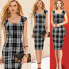 2016 new spring elegant Europe and America style package hip sleevless knit dress